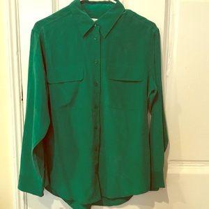 Equipment femme button down silk shirt/ blouse